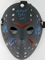 """Friday the 13th"" Mask Signed by (4) with Kane Hodder, Ari Lehman, Ken Kirzinger, & Ted White Inscribed ""Jason"", ""Jason FvJ"" & ""Jason 1"" (JSA COA) at PristineAuction.com"
