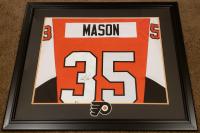 Steve Mason Signed 30x35 Custom Framed Jersey Display (Beckett COA) at PristineAuction.com