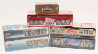 Lof of (6) Topps Complete Baseball Cards Sets at PristineAuction.com