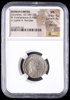284-305 AD Roman Empire Diocletian BI Aurelianianus (4.40g) (MS Strike: 4/5, Surface: 4/5) at PristineAuction.com