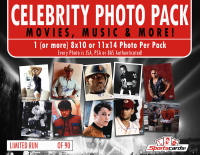 Movies, Music & More Celebrity Photo Pack Mystery Box - 1 Signed Photo/Pack! at PristineAuction.com
