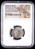 286-310 AD Roman Empire Maximian BI Aurelianianus (3.89g) (MS Strike: 5/5, Surface: 4/5) at PristineAuction.com