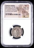 286-310 AD Roman Empire Maximian BI Aurelianianus (4.57g) (MS Strike: 5/5, Surface: 4/5) at PristineAuction.com