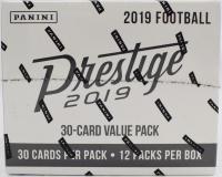 2019 Panini Prestige Football Jumbo Box of (12) Packs at PristineAuction.com