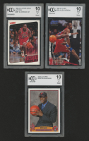 Lot of (3) BCCG Graded 10 Basketball Cards with Allen Iverson 1996-97 Fleer #235 RC, Michael Jordan 1999-00 Upper Deck Victory #387 GH & Dwyane Wade 2003-04 Topps #225 RC at PristineAuction.com