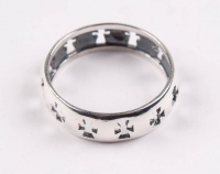Sterling Silver Cross Band Ring - SZ 8 at PristineAuction.com
