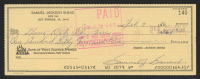Sam Snead Signed 1976 Personal Bank Check (JSA COA) at PristineAuction.com