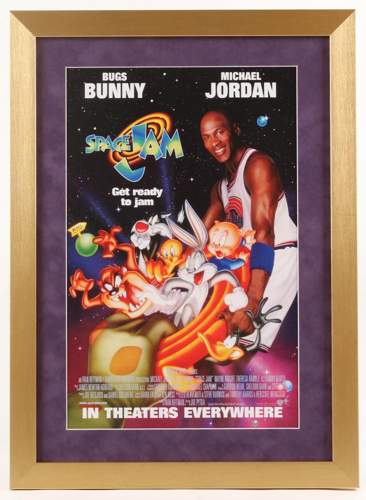 """Space Jam"" 16x22 Custom Framed Movie Poster Display at PristineAuction.com"
