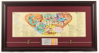 Disneyland 15.5x29 Custom Framed 1959 Original Map Display with Ticket Booklet & (2) Pins at PristineAuction.com