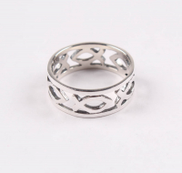 Sterling Silver Fish Cut - Out Ring - SZ 8 at PristineAuction.com