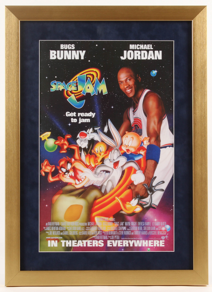 """Space Jam"" 16x22 Custom Framed Movie Poster Display at PristineAuction.com"
