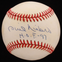 "Phil Niekro Signed ONL Baseball Inscribed ""HOF 97"" (JSA COA) at PristineAuction.com"