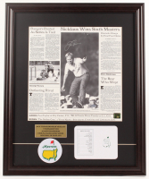 "Jack Nicklaus Signed ""The Masters"" 20.5x25 Custom Framed Photo Display with Official Augusta National Scorecard & Patch (Steiner COA & Nicklaus Hologram) at PristineAuction.com"