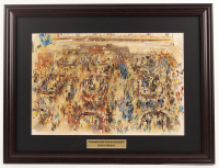 "LeRoy Neiman ""The New York Stock Exchange"" 19x25 Custom Framed Print Display at PristineAuction.com"