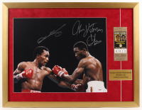 "Sugar Ray Leonard & Thomas ""Hitman"" Hearns 21.5x28 Custom Framed Photo Display with Replica Ticket (PSA COA) at PristineAuction.com"