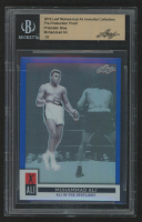 Muhammad Ali 2016 Leaf Immortal Collection Pre-Production Proof Prismatic Blue Ali In The Spotlight (BGS Encapsulated) at PristineAuction.com