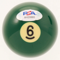 Willie Mosconi Signed #6 Pool Ball with High Quality Display Case (PSA COA) at PristineAuction.com