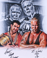 "Scott Hall & Kevin Nash Signed WWE 16x20 Photo Inscribed ""2 Sweet"" & ""N.W.O 4 Life"" (JSA Hologram) at PristineAuction.com"