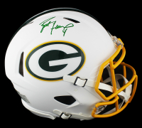 Brett Favre Signed Packers Full-Size Authentic On-Field Matte White Speed Helmet (Radtke COA) at PristineAuction.com