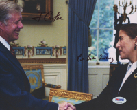 Ruth Bader Ginsburg & Jimmy Carter Signed 8x10 Photo (PSA LOA) at PristineAuction.com
