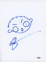 "Seth MacFarlane Signed ""Family Guy"" 8.5x11 Hand-Drawn Sketch (PSA Hologram) at PristineAuction.com"