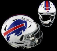 "Bruce Smith Signed Bills Full-Size Authentic On-Field SpeedFlex Helmet Inscribed ""Bills Mafia"" & ""Let's Smash Some Tables!"" (Radtke COA) at PristineAuction.com"