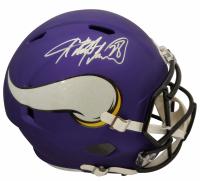 Adrian Peterson Signed Vikings Matte Purple Full-Size Speed Helmet (Beckett COA) at PristineAuction.com