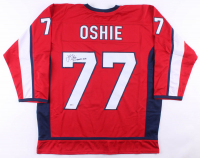 """T. J. Oshie Signed Jersey Inscribed """"SC Champs 2018"""" (Beckett COA) at PristineAuction.com"""