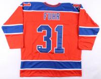 "Grant Fuhr Signed Jersey Inscribed ""HOF 03"" (JSA COA) at PristineAuction.com"