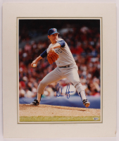 Nolan Ryan Signed Rangers 22x26 Custom Matted Photo Display (Beckett COA) at PristineAuction.com