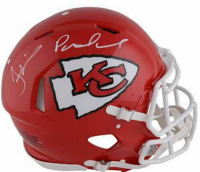 Patrick Mahomes & Tyreek Hill Signed Chiefs Full-Size Authentic On-Field Speed Helmet (Fanatics Hologram) at PristineAuction.com