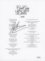 "John Rzeznik Signed ""Slide"" 8.5x11 Lyric Sheet (PSA COA) at PristineAuction.com"