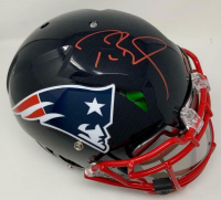 Tom Brady Signed Patriots LE Custom Hydro Dipped Full-Size Authentic On-Field Speed Helmet (Steiner COA & Tristar Hologram) at PristineAuction.com