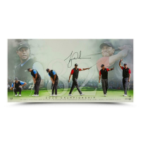 Tiger Woods Signed 18x36 LE Photo (UDA COA) at PristineAuction.com