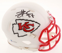 Travis Kelce Signed Chiefs Matte White Speed Mini Helmet (Beckett COA) at PristineAuction.com
