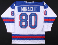 """1980 """"Miracle on Ice"""" Jersey Signed by (20) with Bill Baker, Buzz Schneider, Craig Patrick, Rob McClanahan (JSA Hologram) at PristineAuction.com"""