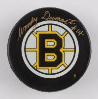 Woody Dumart Signed Bruins Logo Hockey Puck (Beckett COA) at PristineAuction.com