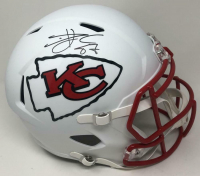 Travis Kelce Signed Chiefs Full-Size Matte White Speed Helmet (Fanatics Hologram) at PristineAuction.com
