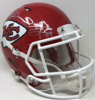 Patrick Mahomes & Travis Kelce Signed Chiefs Full-Size Authentic On-Field Speed Helmet (Fanatics Hologram) at PristineAuction.com