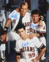 "Charlie Sheen, Tom Berenger & Corbin Bernsen Signed ""Major League"" 16x20 Photo Inscribed ""Dorn"" (Beckett COA) at PristineAuction.com"