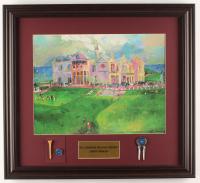 "LeRoy Neiman ""St. Andrews"" 19.5x21.5 Custom Framed Print Display with (3) Official British Open Items at PristineAuction.com"