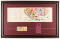 1959 Disneyland 18.5x29 Custom Framed 1959 Original Map Display with Ticket Booklet & Parking Pass at PristineAuction.com