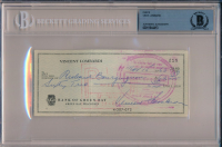 Vince Lombardi Signed 1963 Personal Bank Check (BGS Encapsulated) at PristineAuction.com