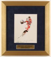 "LeRoy Neiman ""Michael Jordan"" 12x13.5 Custom Framed Print Display at PristineAuction.com"