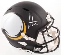 Cris Carter Signed Vikings Full-Size AMP Alternate Speed Helmet (Beckett COA) at PristineAuction.com