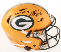 "Jordy Nelson Signed Packers Full-Size Authentic On-Field SpeedFlex Helmet Inscribed ""White Lightning"" (Beckett COA) at PristineAuction.com"