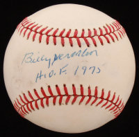 "Billy Herman Signed ONL Baseball Inscribed ""H.O.F. 1975"" (Beckett COA) at PristineAuction.com"