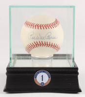 Pee Wee Reese Signed ONL Baseball with High Quality Display Case & Jersey Retirement Pin (PSA COA) at PristineAuction.com