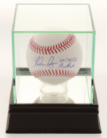 "Nolan Ryan Signed OML Baseball Inscribed ""100.7 MPH Fastball"" with Display Case (PSA COA) at PristineAuction.com"