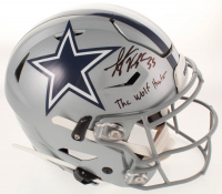 "Leighton Vander-Esch Signed Cowboys Full-Size Authentic On-Field SpeedFlex Helmet Inscribed ""The Wolf Hunter"" (Beckett COA) at PristineAuction.com"